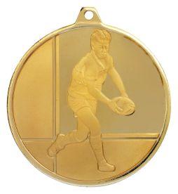 Rugby Glacier Frosted Gold Medal