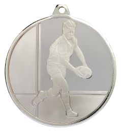 Rugby Glacier Frosted Silver Medal