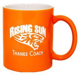 Ceramic Coffee Cup Orange