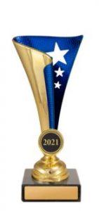 Dance Epic Cups Gold & Blue