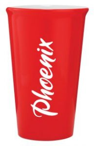 Ceramic Latte Mug 415ml Red
