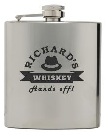 Polished Mirror Flask 6 ounce