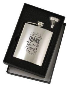 Polished Mirror Flask Set 6 ounce